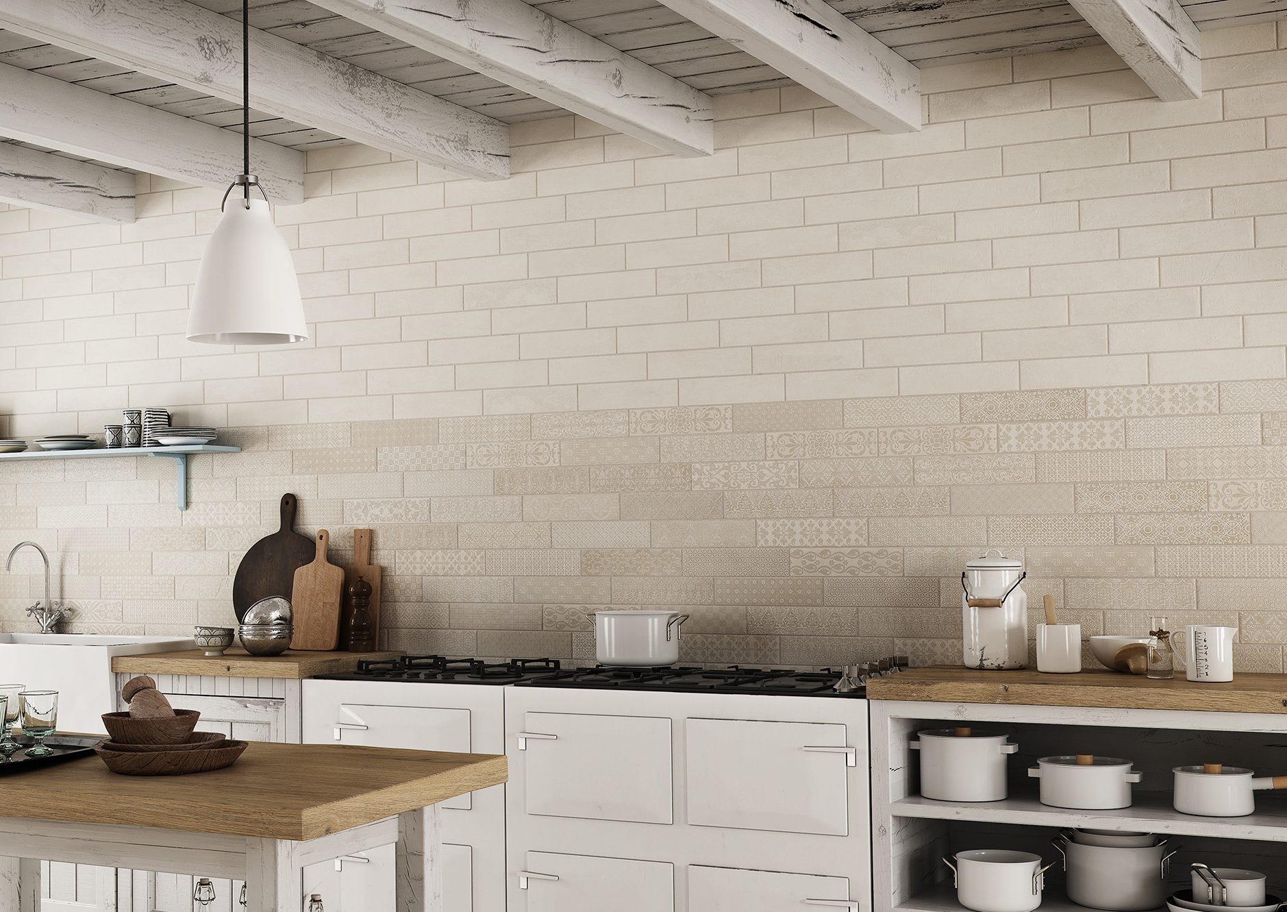 Deco Bricktrend Almond by Marquis Collection