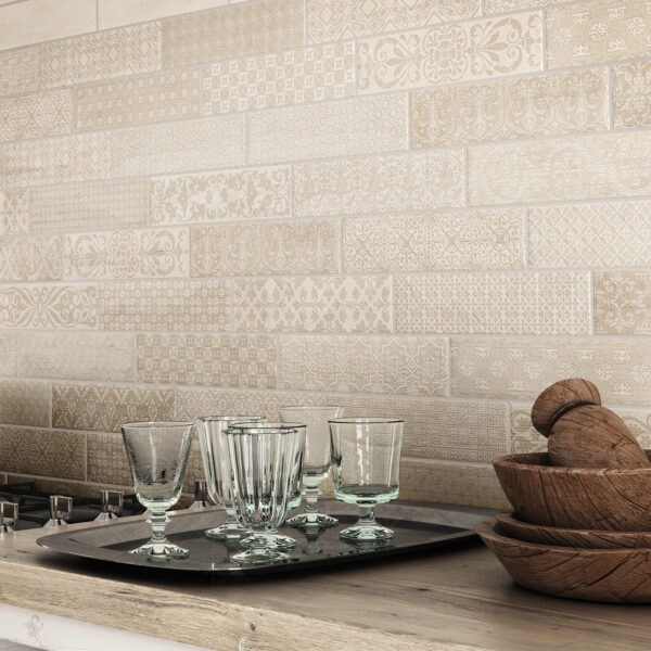 Deco Bricktrend White by Marquis Collection